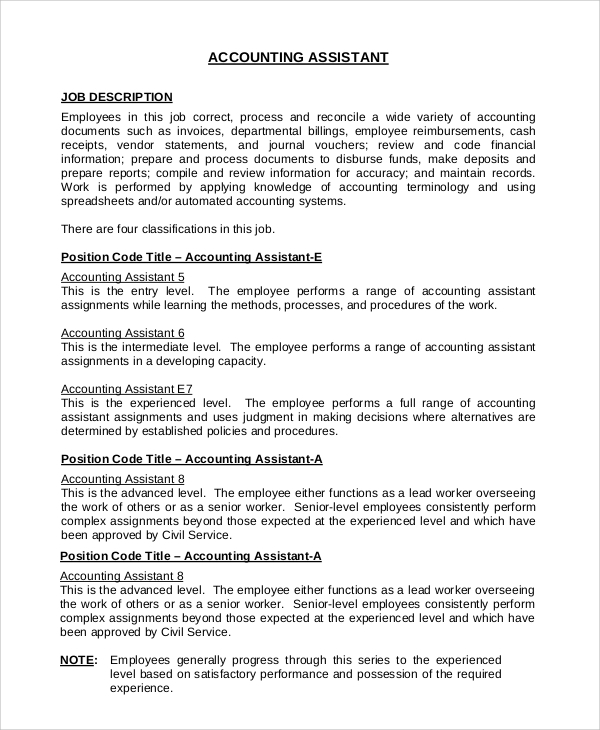 accounting office assistant job description