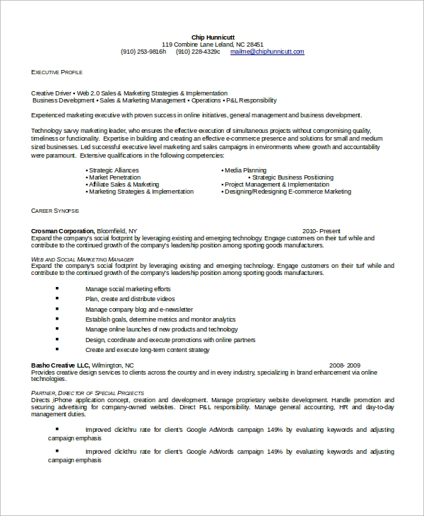 Executive Resume Format Sample Executive Resumes Formats Resume Samples  Types Of Resume Management Resume Templates Resume
