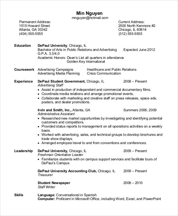 Sample Administrative Assistant Resume - 8+ Examples In Word, Pdf