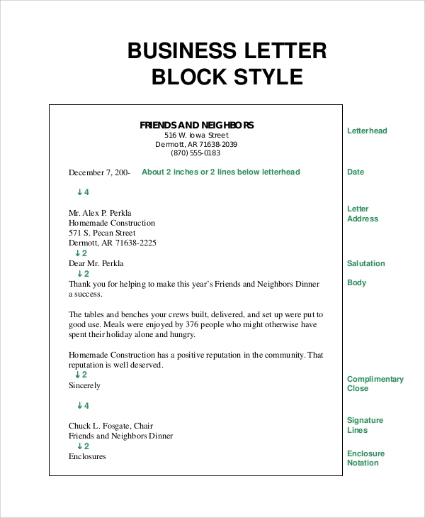block format letter 8 sample business letter formats pdf word sample 20626