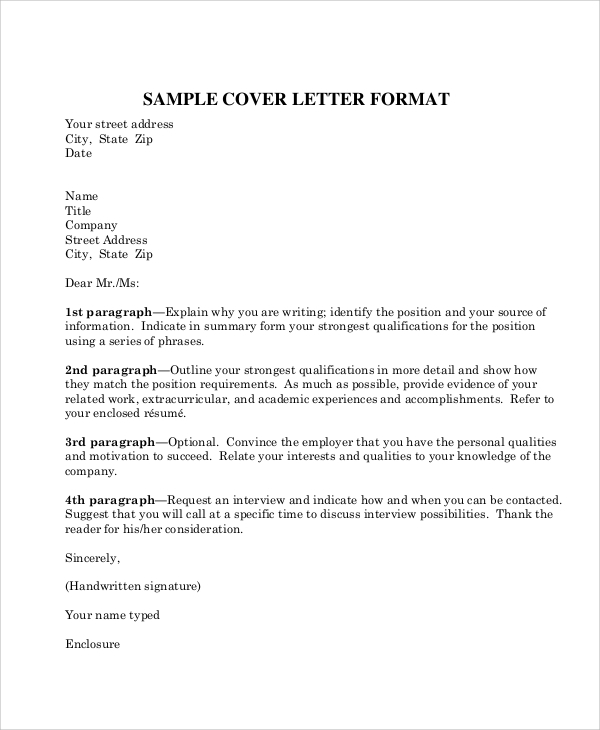 Sample Business Letter Format   Examples In Word Pdf