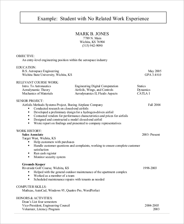 resume-example-for-students-with-no-work-experience
