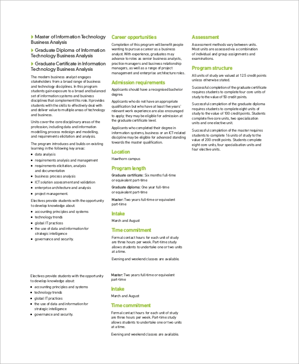 information technology business analysis