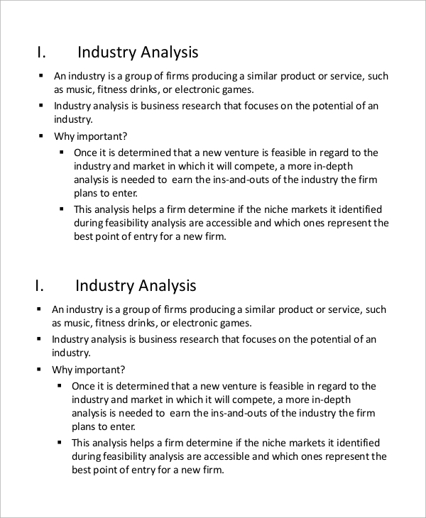 industry and competitor analysis