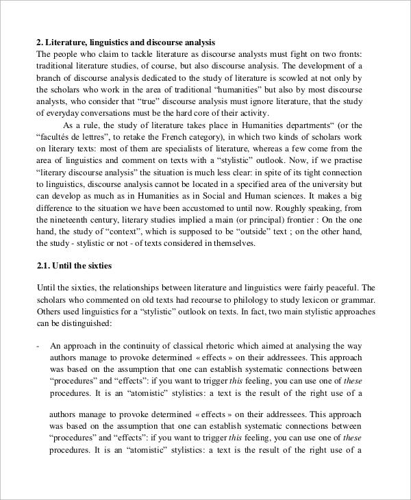 literary disclosure analysis