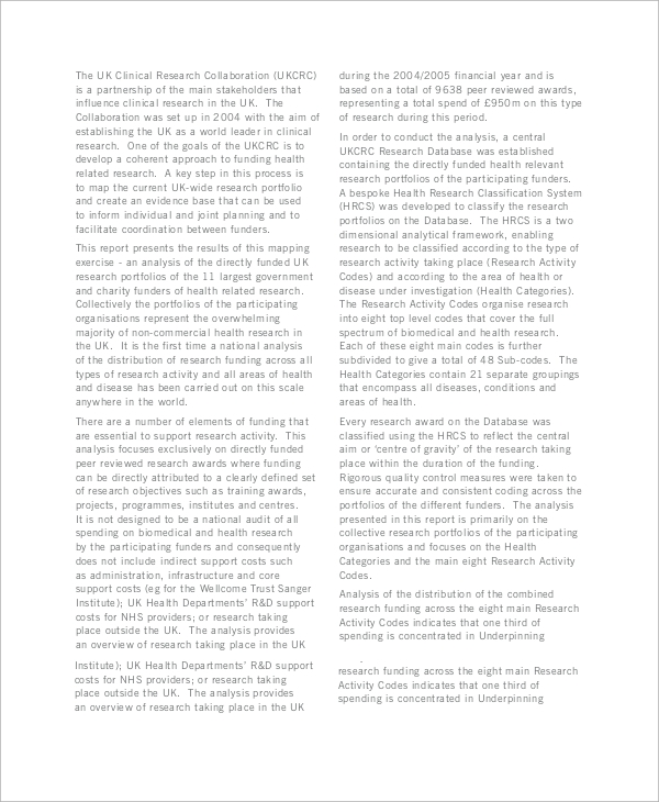 health analysis report