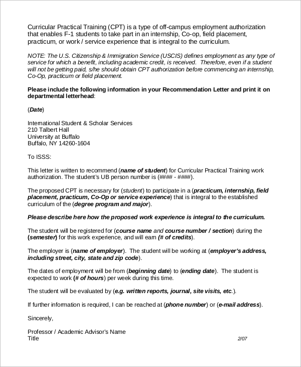 Recommendation letter example 9 samples in word pdf academic advisor recommendation letter example spiritdancerdesigns Image collections