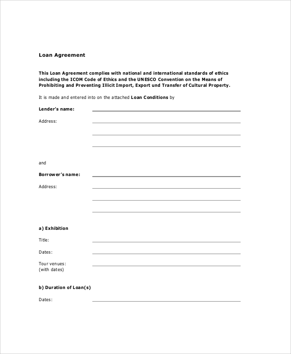 14 Sample Loan Agreements Pdf Docs