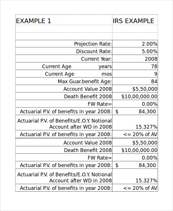 Sample Retirement Withdrawal Calculator   Examples In Excel
