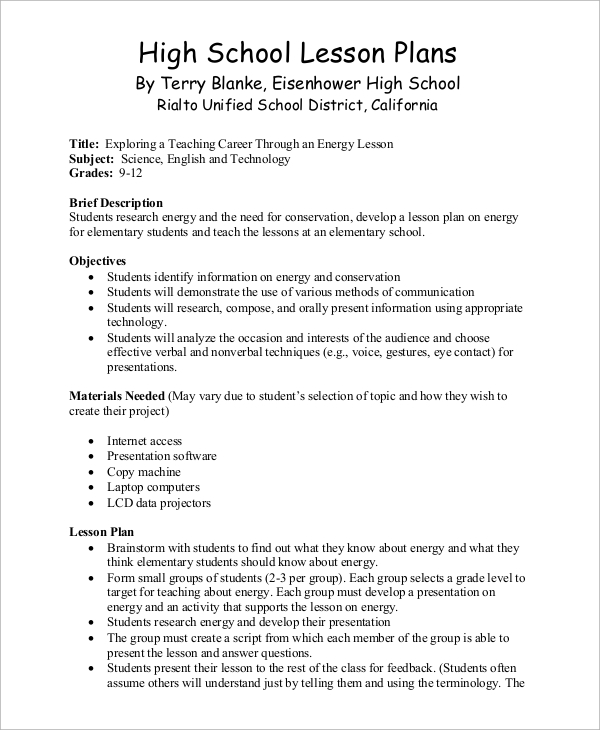essay lesson plans high school High school english lesson plan: analyzing essays introduction each lesson in the adolescent literacy toolkit is designed to support students through the.