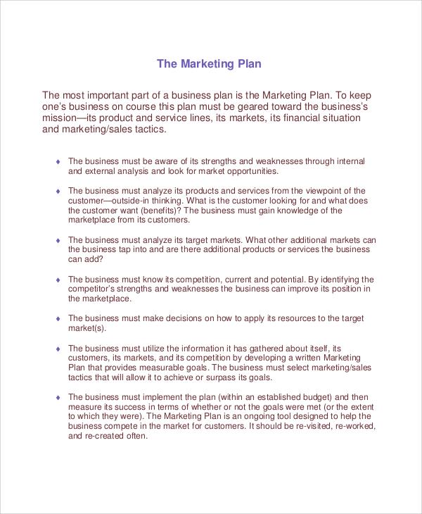product marketing plan sample