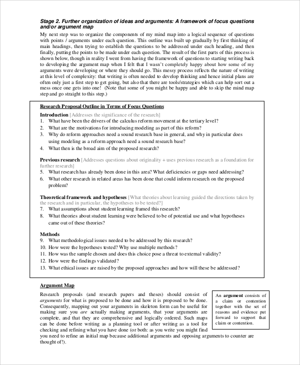 sample research proposal methodology