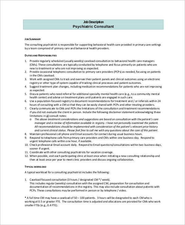 it consultant job description pdf