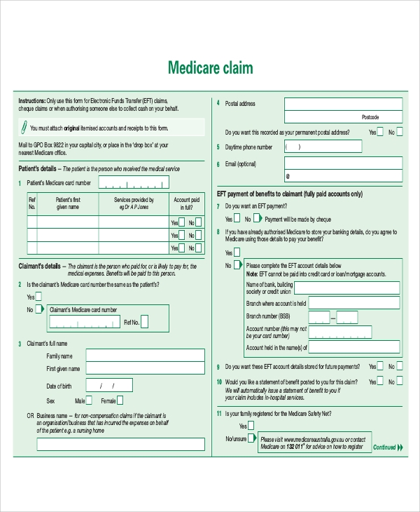 Sample Medicare Form - 8+ Examples in Word, PDF