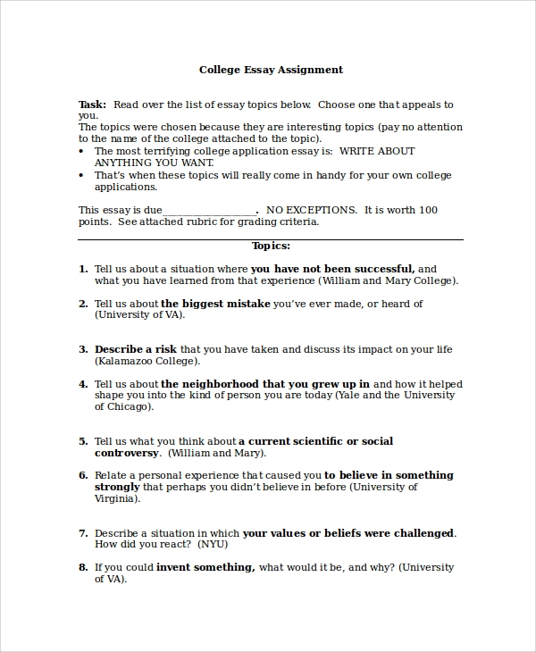 samples of essays for college How to write a scholarship essay - examples scholarship essays should use this formatting unless specified otherwise: two to three pages in length.