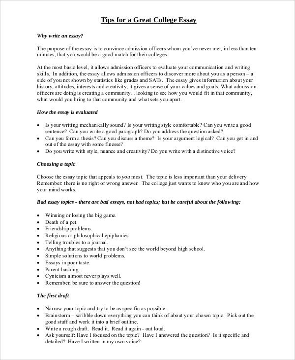 College Essays. Essay Checker What Is A Essay Map The Awakening ...
