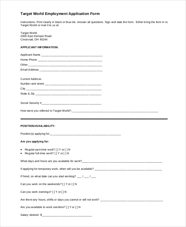 picture relating to Printable Ssdi Application called Printable Software program - 7+ Illustrations inside of Phrase, PDF