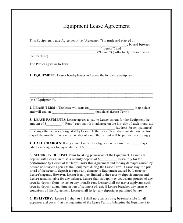 9 printable lease agreements sample templates for Farm partnership agreement template