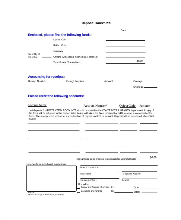 Sample Transmittal Form 9 Examples in PDF – Transmittal Template