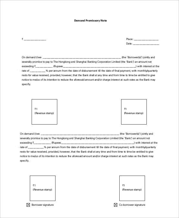 Sample Promissory Note   Examples In Word Pdf