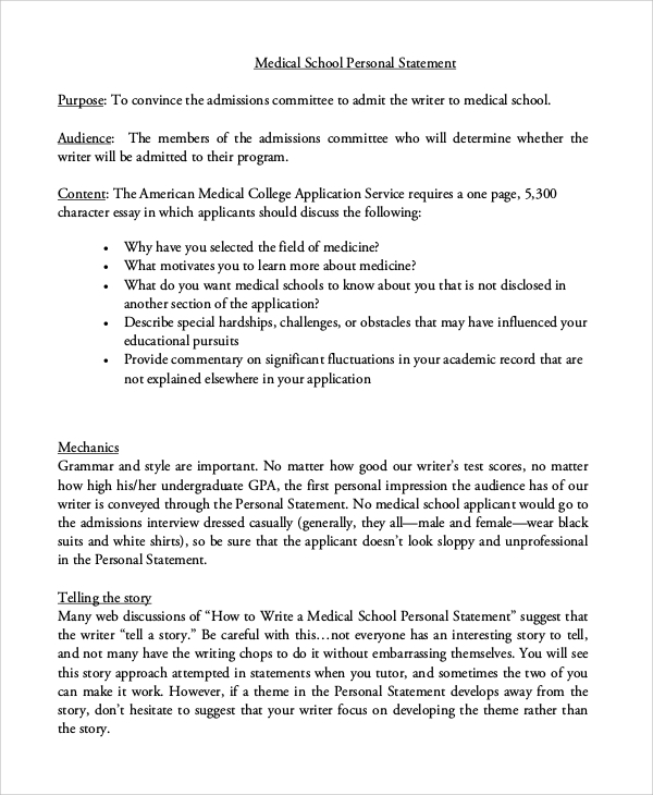 Medical school admissions essay book