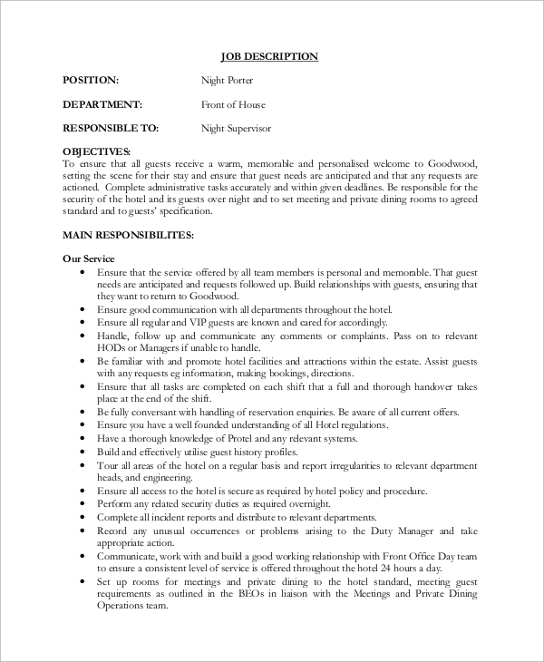 Terrific dining room supervisor job description 67 about for Dining room manager definition