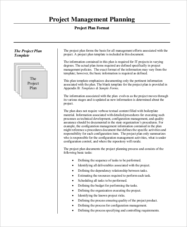 sample project management plan 11 examples in word pdf