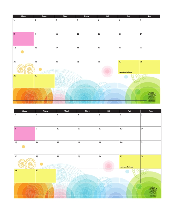 Blank Homework Calendar : Sample homework calendars templates