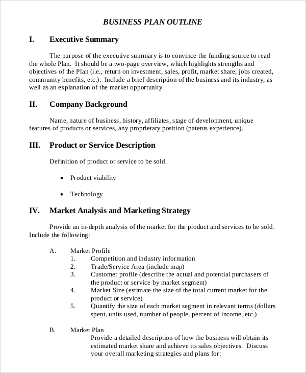 8 executive summary samples sample templates sample executive summary business plan outline accmission Image collections