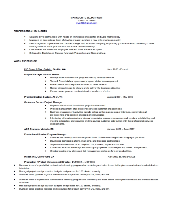 Master Resume Template  WowcircleTk