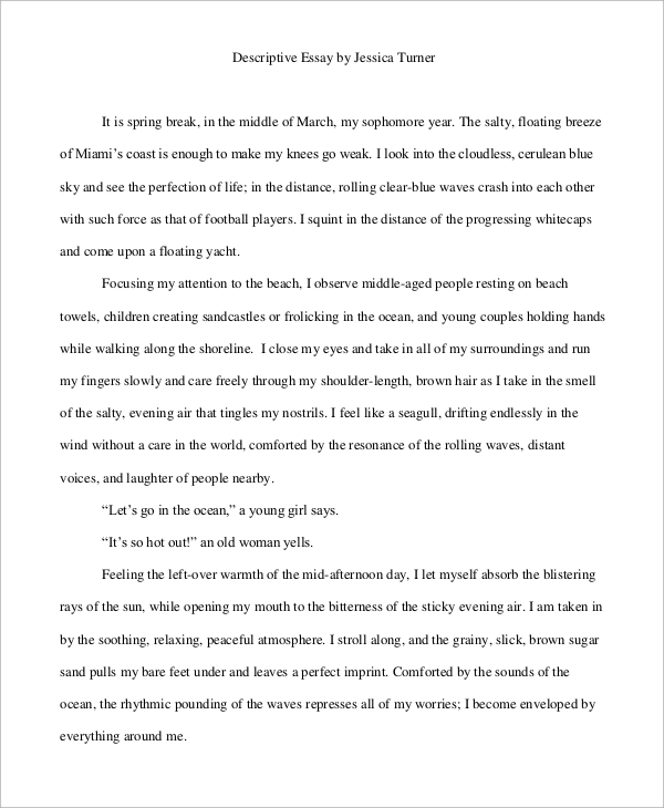 28+ Descriptive Sample Essay | Descriptive Essay At Essaypedia Com ...