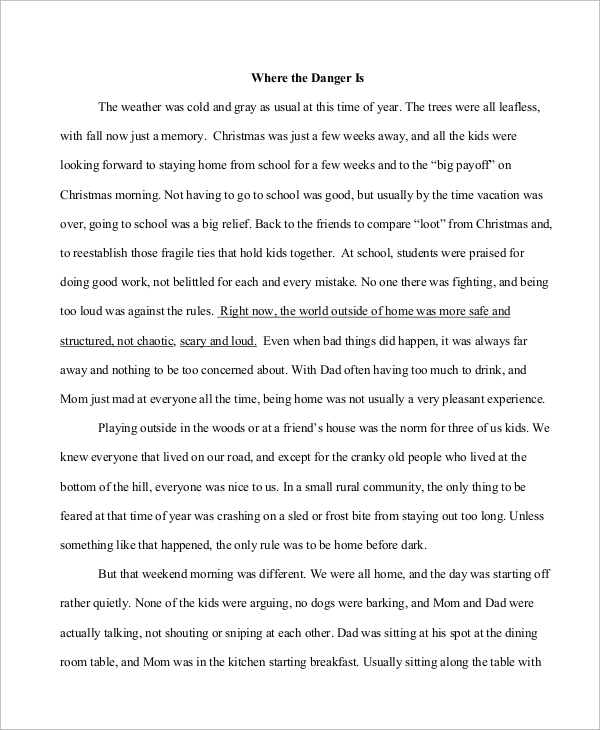 descriptive narrative essay example