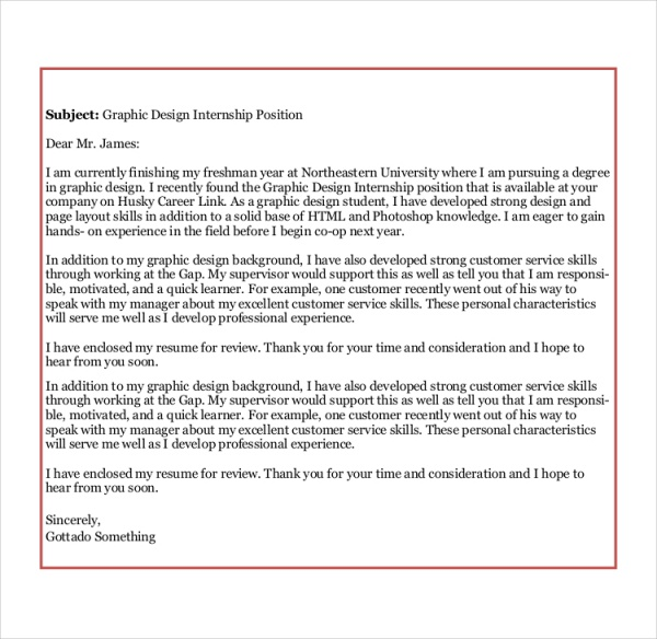 web design internship cover letter Pre interview sample cover letter : i have worked for the past two years as a graphic design intern with career services at uw – green bay.