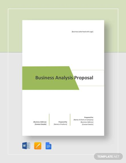 business analysis proposal template