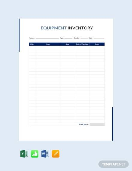 equipment inventory template13