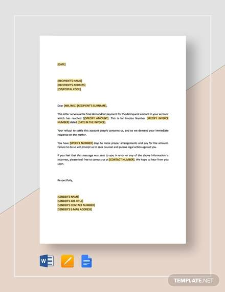 final demand for payment letter template1