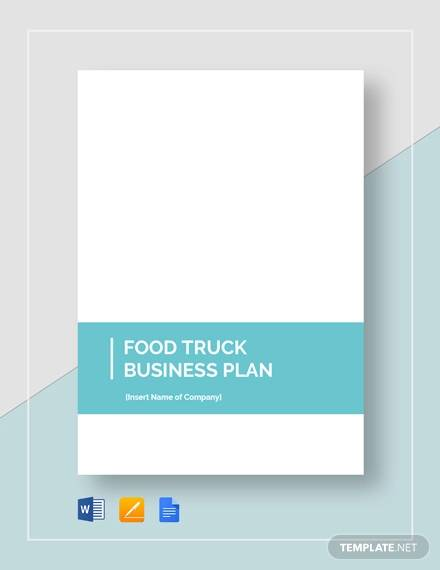 12 Sample Food Truck Business Plans Pdf Word Apple Pages