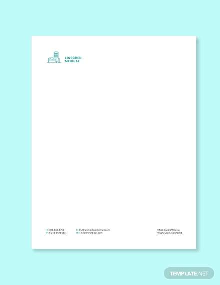 medical clinic letterhead template