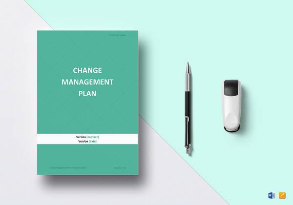 sample change management plan template