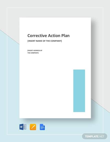 sample corrective action plan template