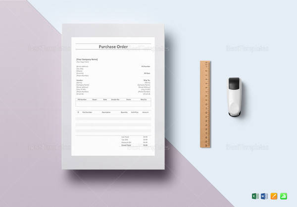 simple purchase order template in word