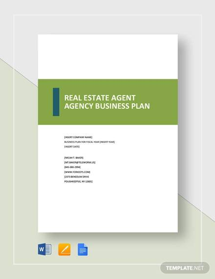 Free 13 Real Estate Business Plan Templates In Google Docs