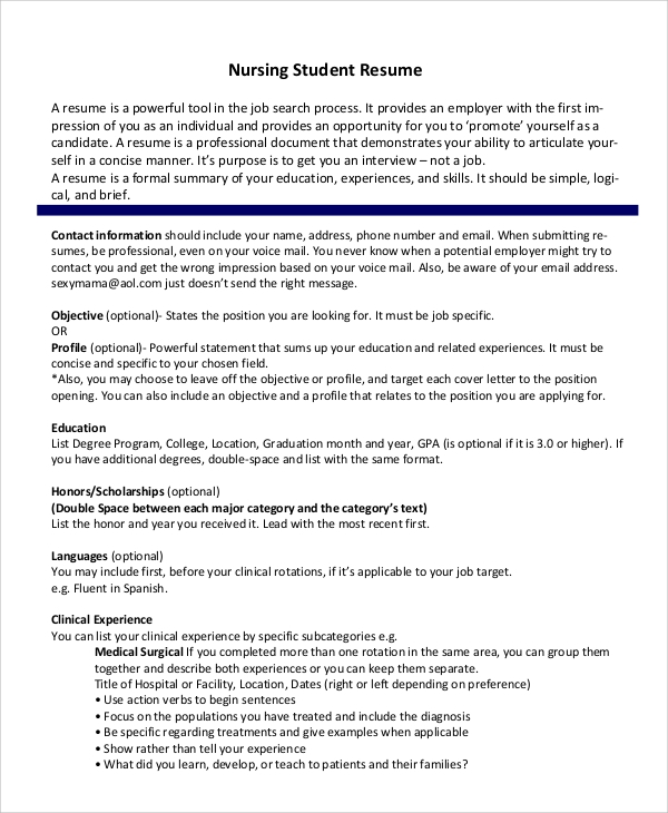Student Resume Format | Resume Format And Resume Maker