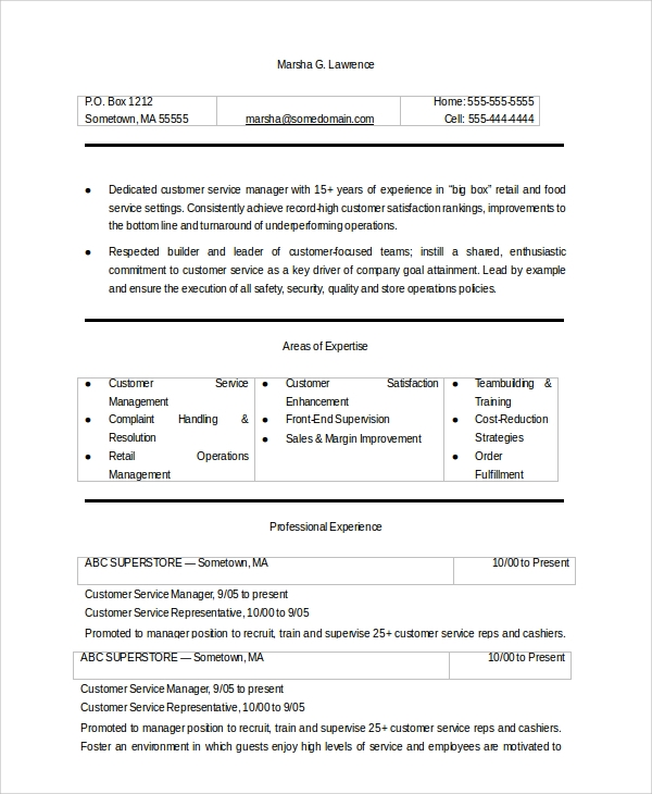 career objective in resume for customer service 28