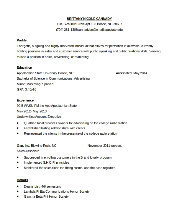sales customer service resume in pdf