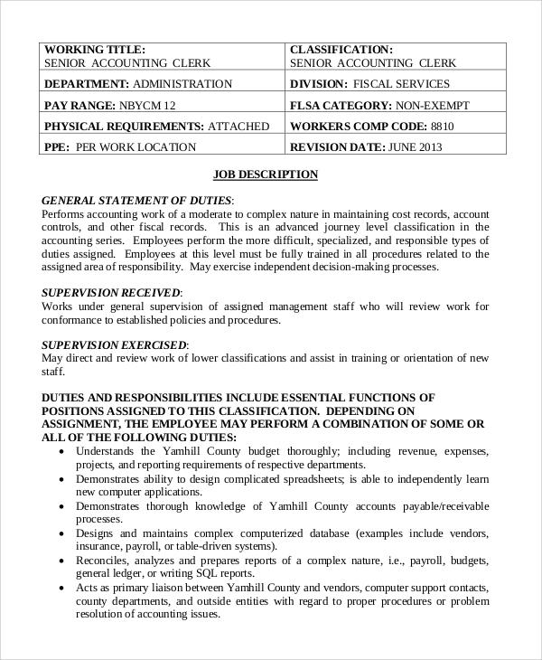 staff accountant job description