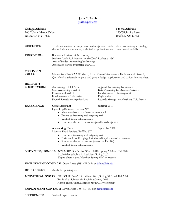 10  sample accountant resumes