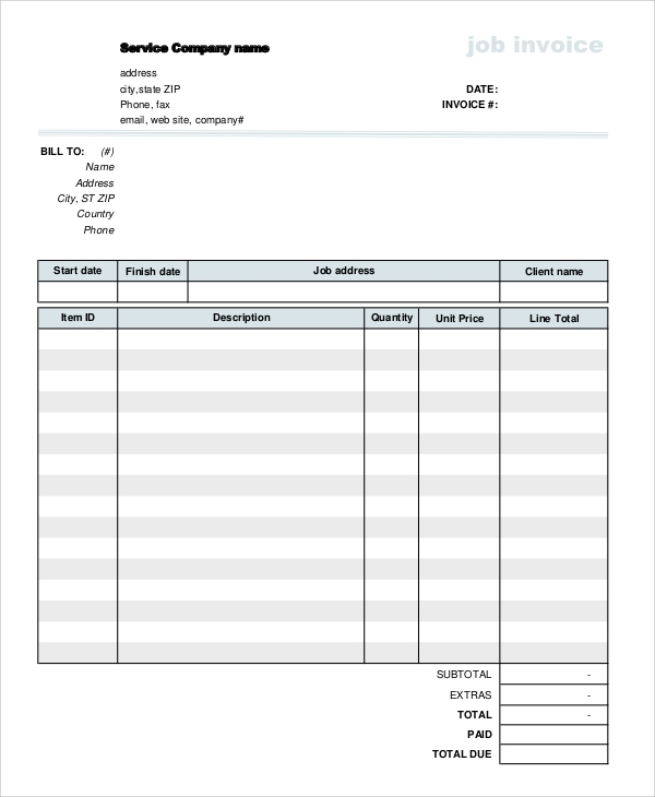 Receipt For Banana Bread Excel Sample Invoice Form   Examples In Pdf Word Invoice Template Microsoft Excel Excel with How To Write An Invoice Letter Excel Jobinvoiceform Interest On Overdue Invoices Excel