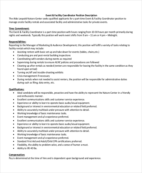 Facilities Coordinator Cover Letter Sample Top
