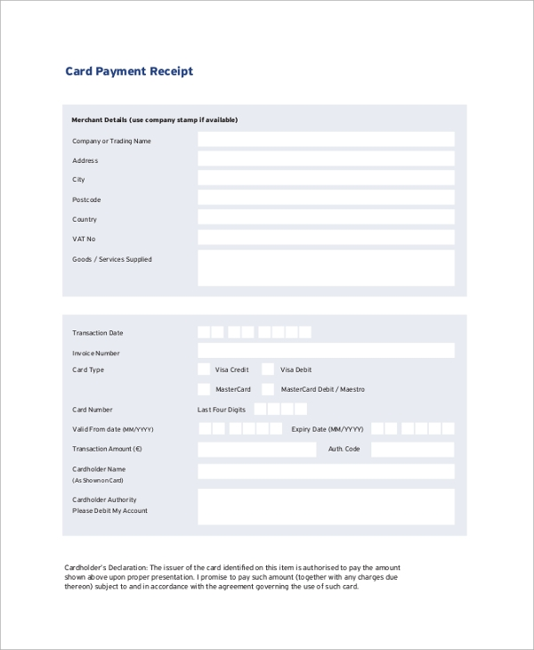 university entrance examination payment receipt